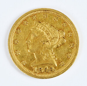 1844 Gold Liberty Head Quarter Eagle