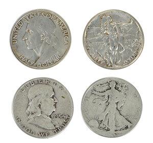 Over 265 Silver U.S. Half Dollars