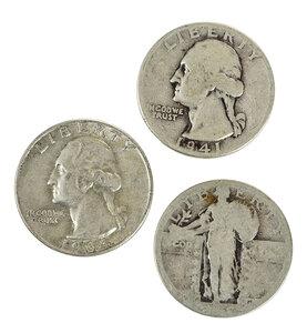 Over 525 Silver U.S. Quarters