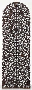 Carved Asian Panel With Arched Top