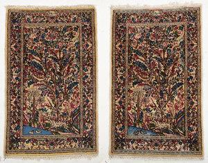 Two Small Kerman Rugs