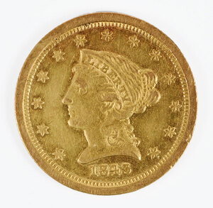 1843-O Gold Liberty Head Quarter Eagle