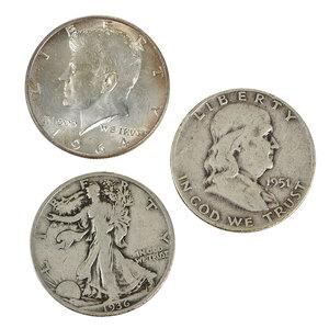 Over 180 Silver U.S. Half Dollars