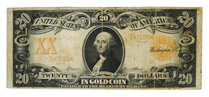 Twenty Dollar Gold Certificate
