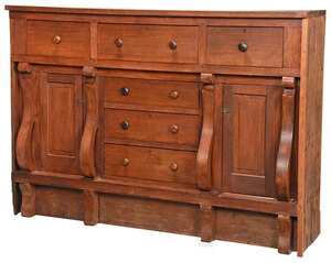 Large Southern Classical Walnut Sideboard