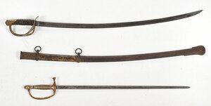 Ames Musician's Sword and Roby Cavalry Saber