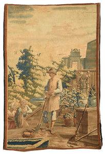 18th Century Wool Garden Tapestry