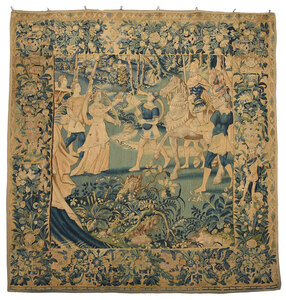 Large Wool Tapestry of a Victory Celebration
