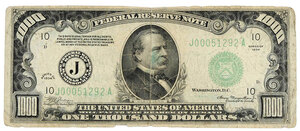 $1000 Federal Reserve Note