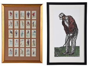 Two Framed Golf Items