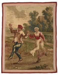 18th Century Wool Tapestry Panel