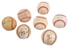 Seven Braves Signed Baseballs