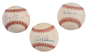 Three Detroit Tigers Signed Baseballs
