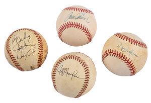 Four New York Mets Signed Baseballs