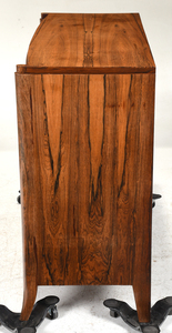 Art Deco Figured Rosewood Chrome Mounted Cabinet