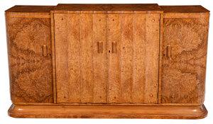 Art Deco Burlwood Veneered Sideboard Cabinet