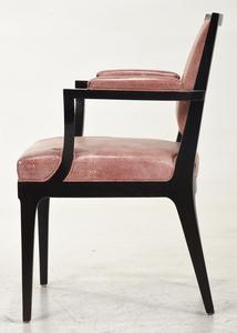 Set Eight Art Deco Style Ebonized Dining Chairs