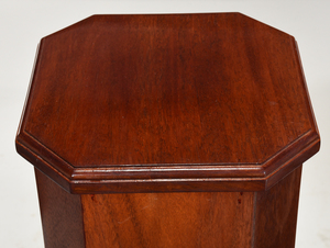 Pair Art Deco or Style Carved Mahogany Pedestals