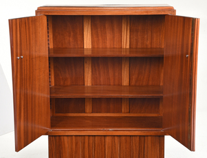 Art Deco Rosewood and Chrome Cabinet by DIM