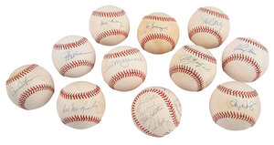 11 Assorted Signed Baseballs