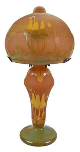 Schneider Attributed Cameo Art Glass Table Lamp