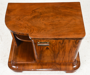 Art Deco Figured Walnut Bedside Cabinet