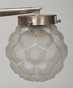 Art Deco Nickel Plated Five Light Chandelier