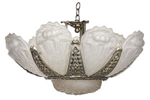 Muller Frères Attributed Art Deco Glass Fixture