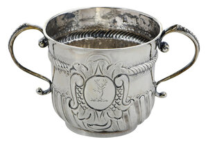 Queen Anne English Silver Porringer Cup
