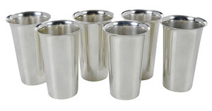Set of 6 Sterling Tumblers
