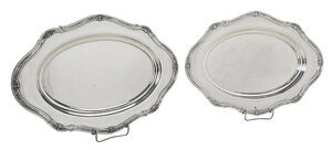 Pair of Oval Sterling Trays