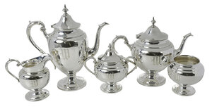 Gorham Five Piece Sterling Tea Service