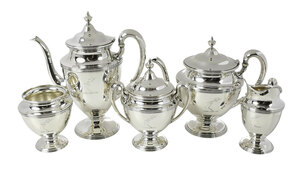 Five Sterling Tea Service