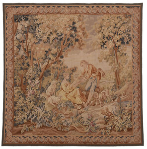 French Style Wool Tapestry Panel