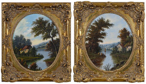 A Pair of British Landscape Paintings