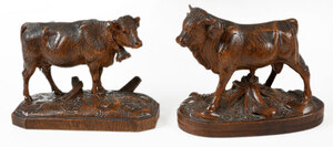 Two Small Black Forest Animal Carvings