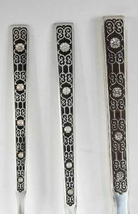 Spanish Tracery Sterling Flatware, 67 Pieces