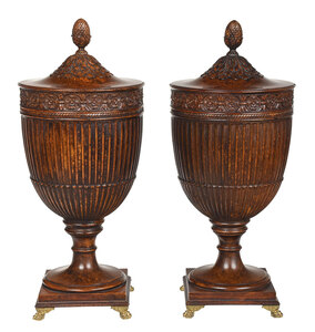 A Pair of Regency Style Covered Wine Coolers
