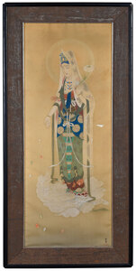 Framed Asian School Painting on Silk