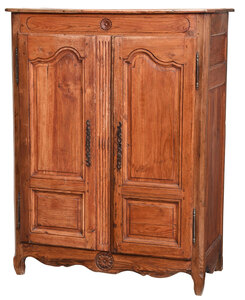 Provincial Louis XV Carved and Paneled Cabinet