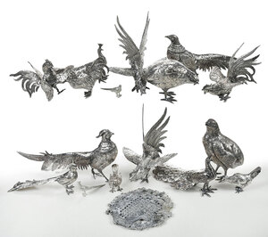 Seventeen Silver Plate Birds/Heart Shaped Lid