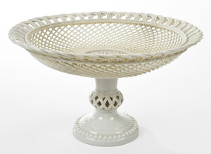Belleek Basket Weave Compote