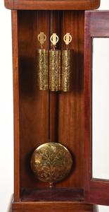 Gustav Becker Mahogany Tall Case Clock
