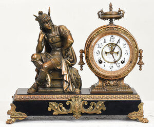 Ansonia Mantel Clock With Mercury Figure