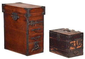 Two Japanese Tansu Chests