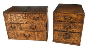 Two Small Japanese Tansu Chests