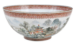 Chinese Enameled Eggshell Porcelain Bowl