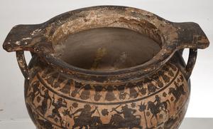 Etrusco-Corinthian Style Black Figure Krater