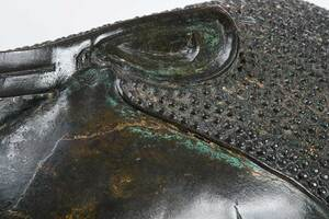 Southeast Asian Patinated Bronze Buddha Head
