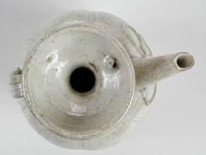 A Chinese White Crackle Glazed Porcelain Ewer